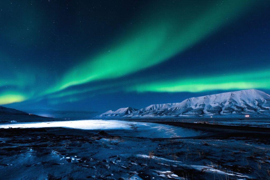 Aurora boreale quando: isole Svalbard