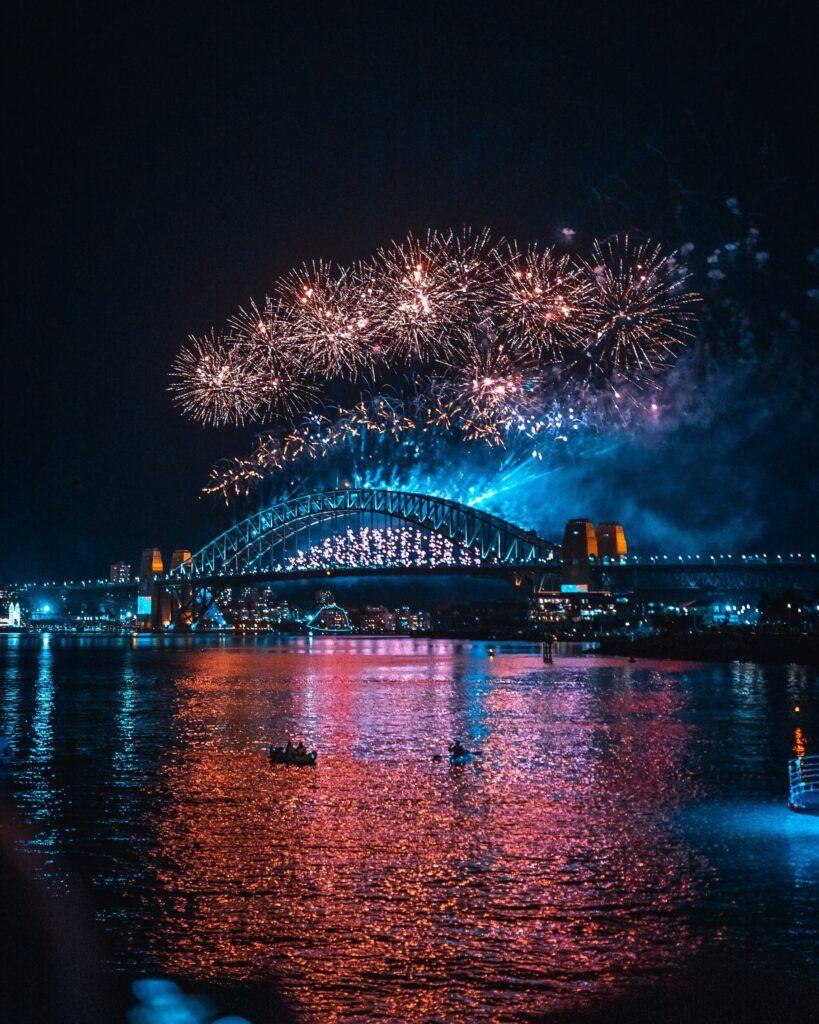 Capodanno a Sydney e in Australia: spettacolo pirotecnico.