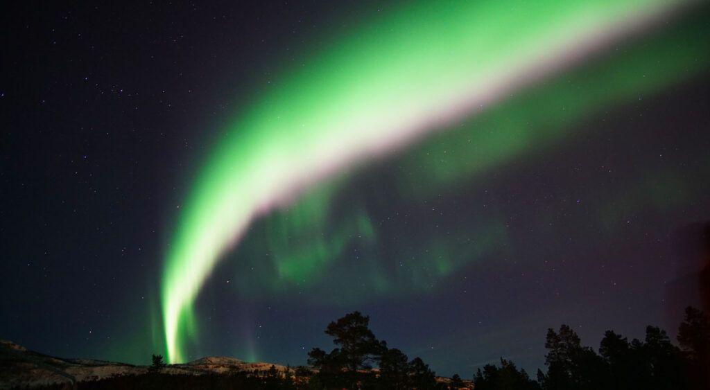 Aurora boreale ad Alta, Norvegia.