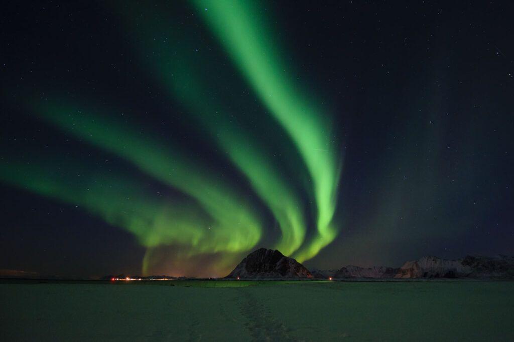 Aurora alle Isole Lofoten.