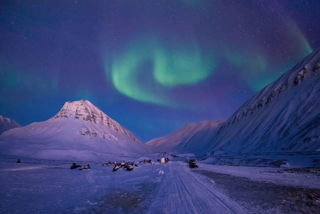 Aurora alle Isole Svalbard.