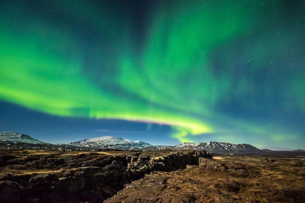 þingvellir National Park aurora