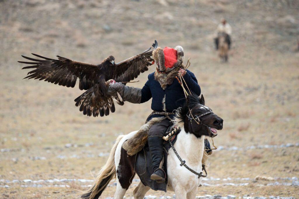 Caccia con le aquile Mongolia