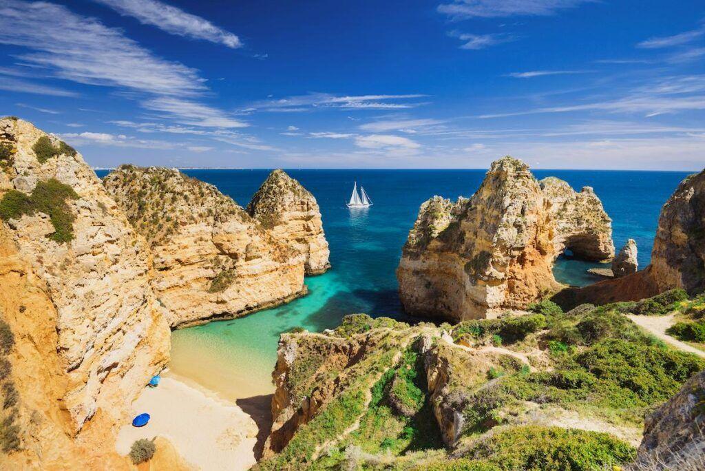 La costa dell'Algarve