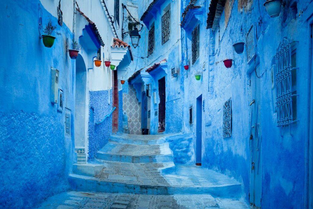 Mille sfumature di blu nella città blu!