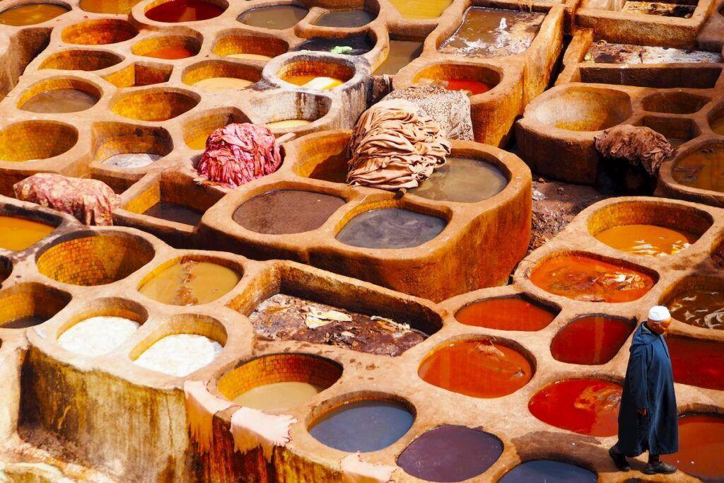 Marocco cosa vedere: Concerie di Fes