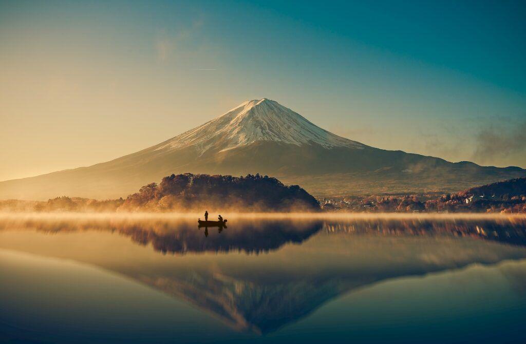 Il magico Lado Kawaguchi, nella regione dei Cinque Laghi.