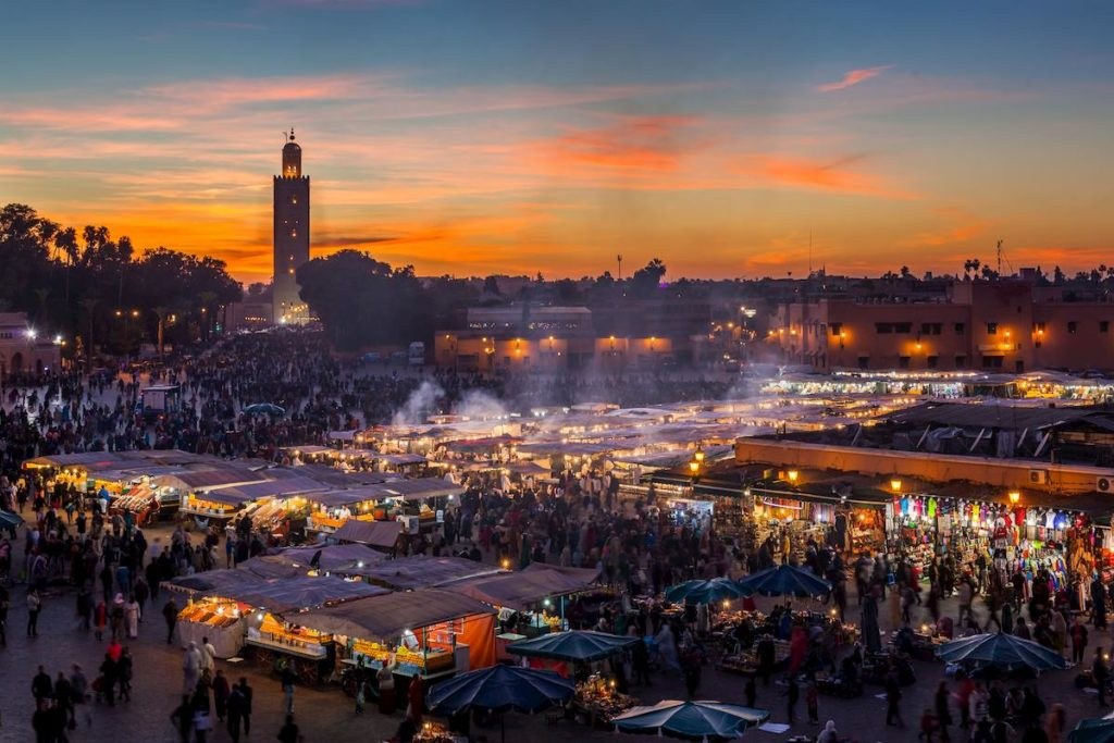 Jamaaa el Fna, la piazza principale di Marrakech