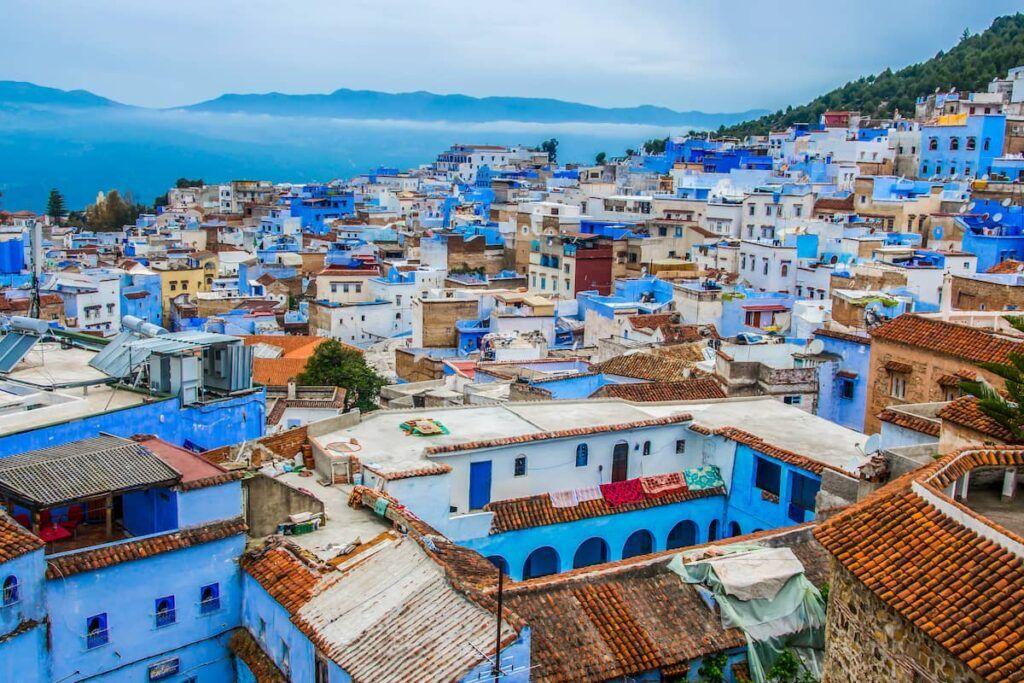 Vista sulla città blu