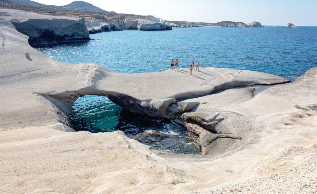 Vista del mare a Milos
